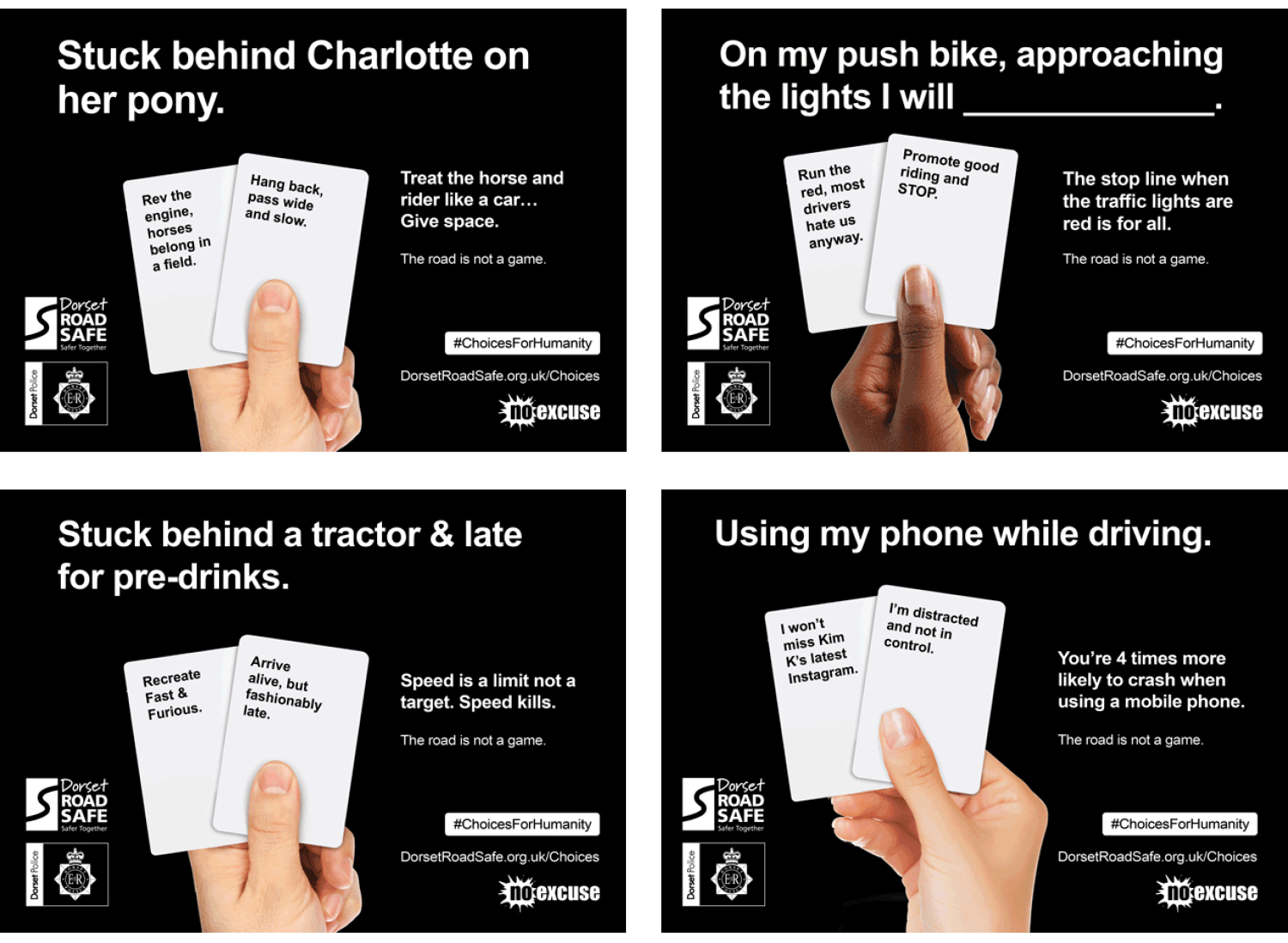 Dorset Road Safe Examples of Poster