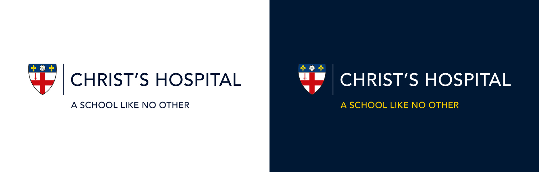 Christs hospital Logo Blue and White Background