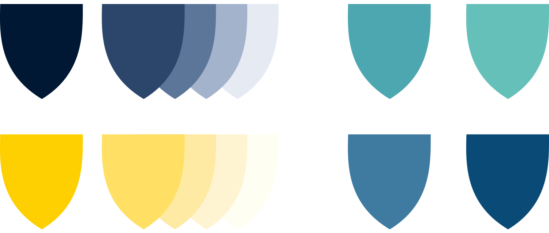 Christs Hospital brand Development badges