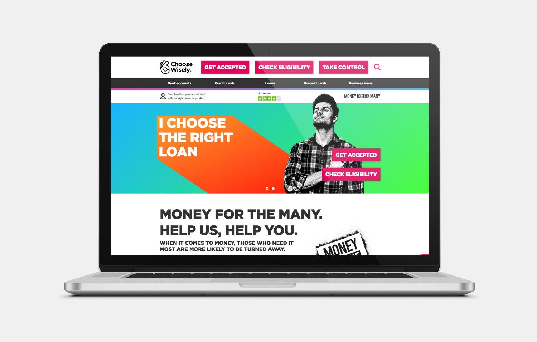 Choose Wisely Homepage macbook view