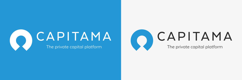 Capitama branding Blue and White mixtures