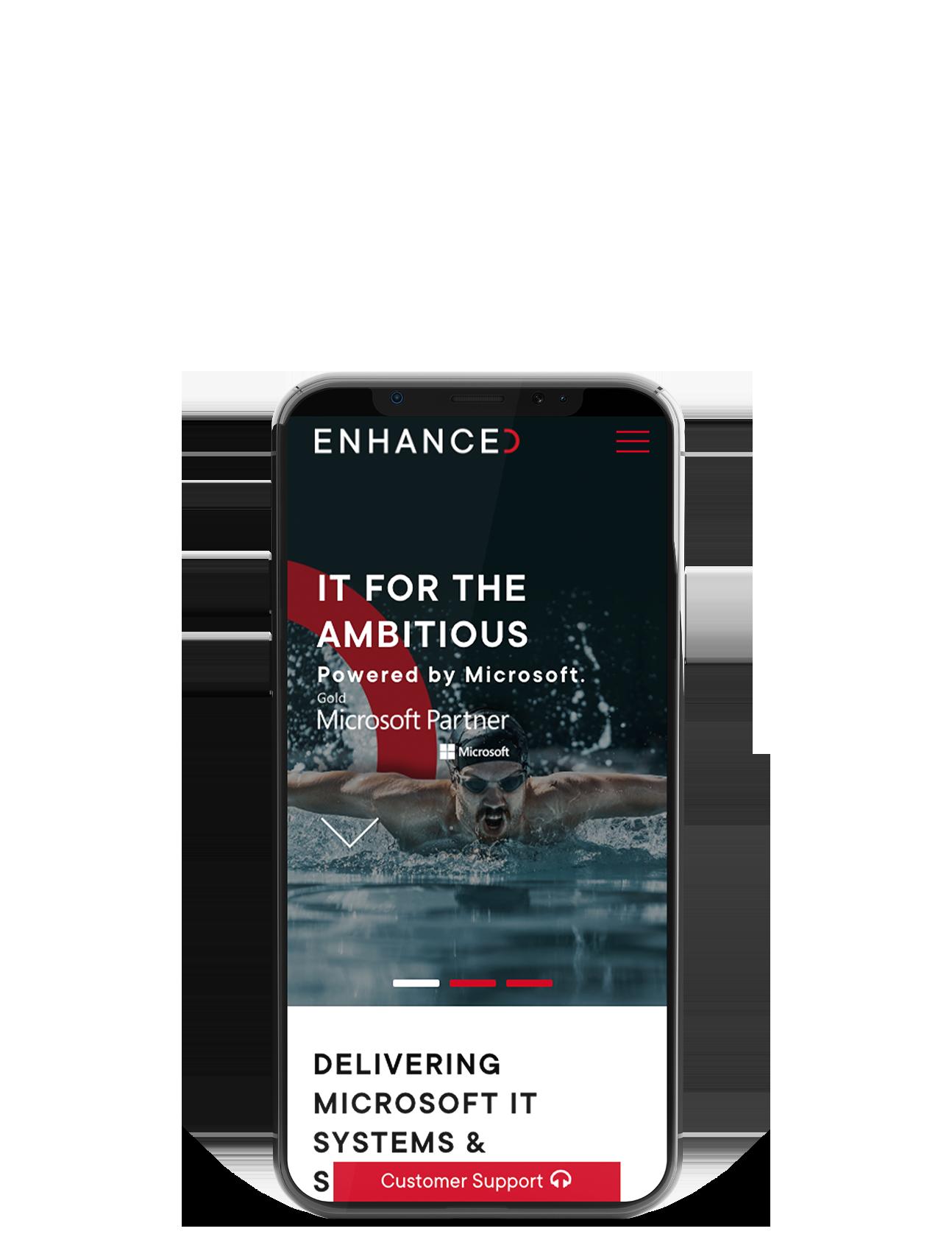 Enhanced Homepage Mobile View