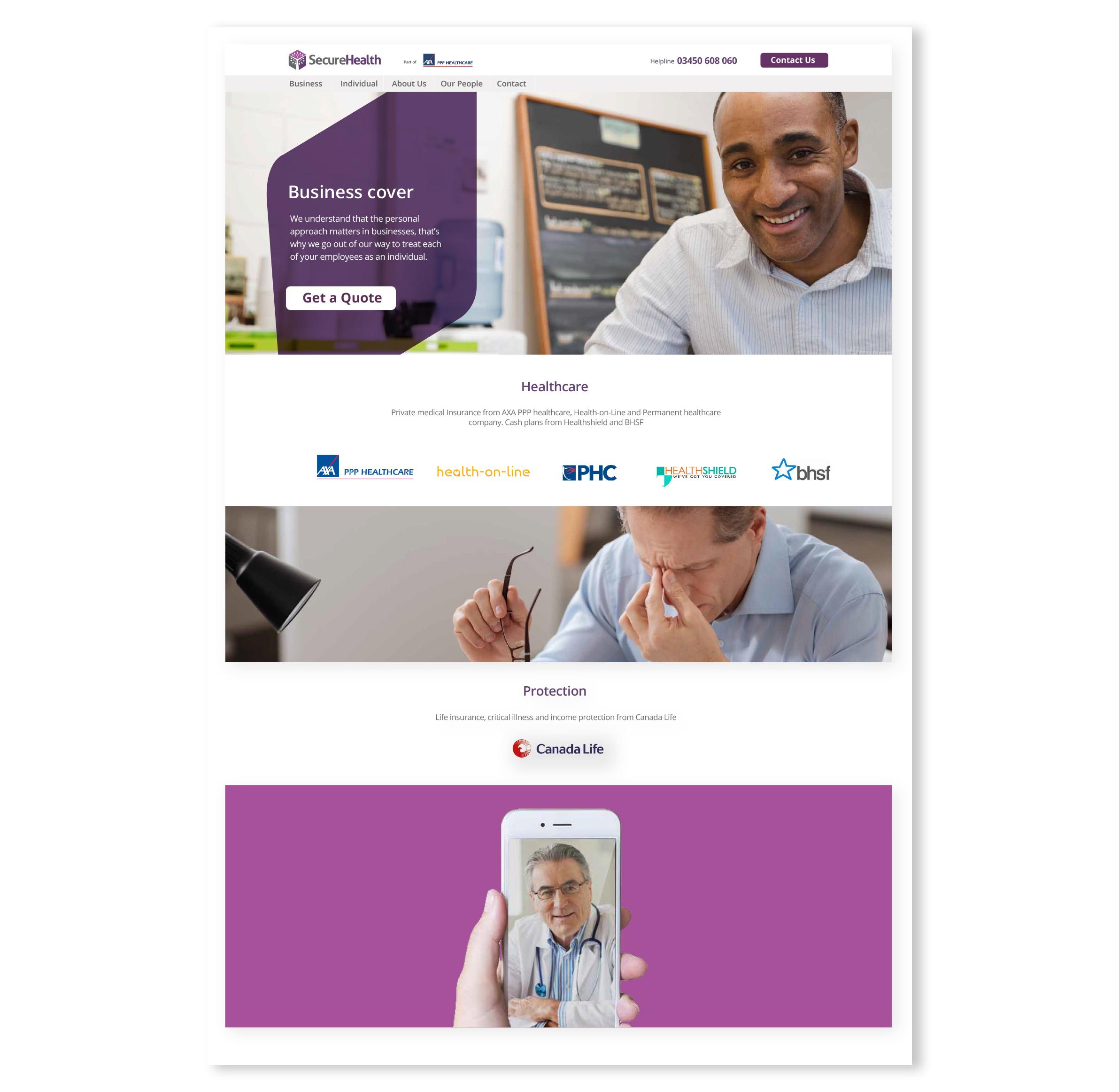 Secure Health Website Image Case Study
