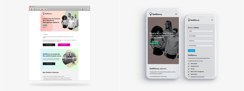 Staff Savvy Web and Mobile View