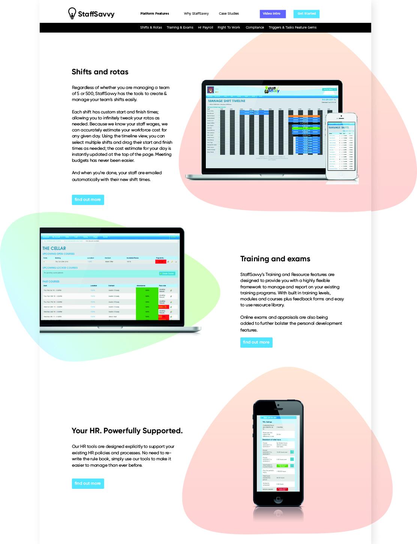 Staff Savvy Website design