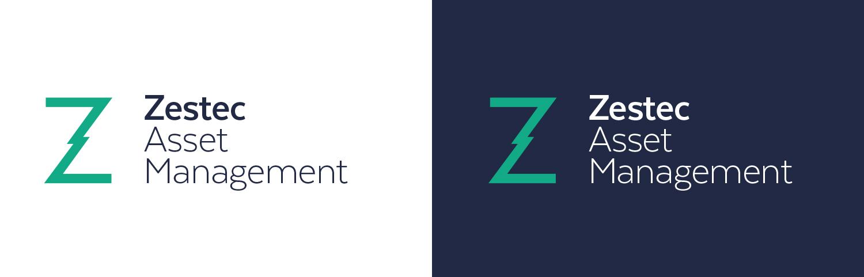 Zestec Logo White and Blue