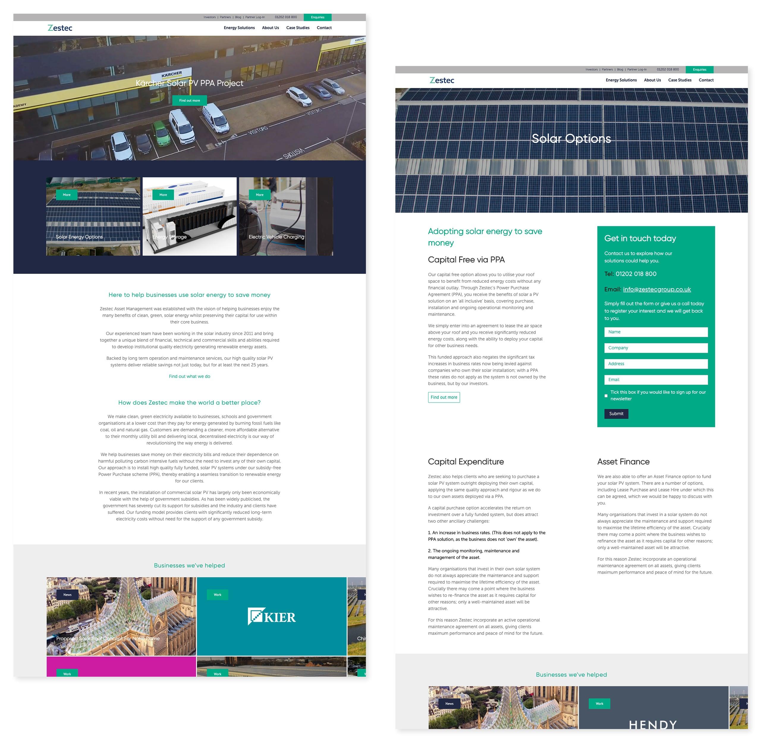 Zestec Website Views