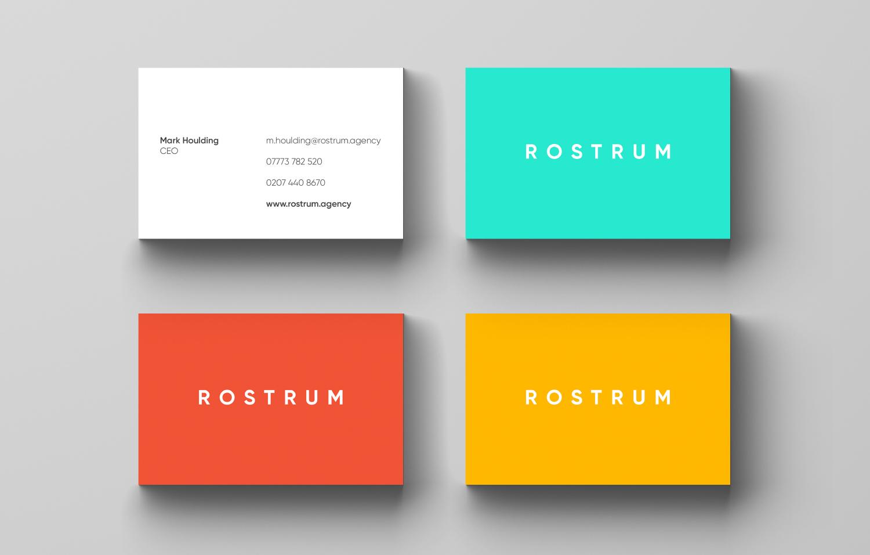 Rostrum Business Cards design