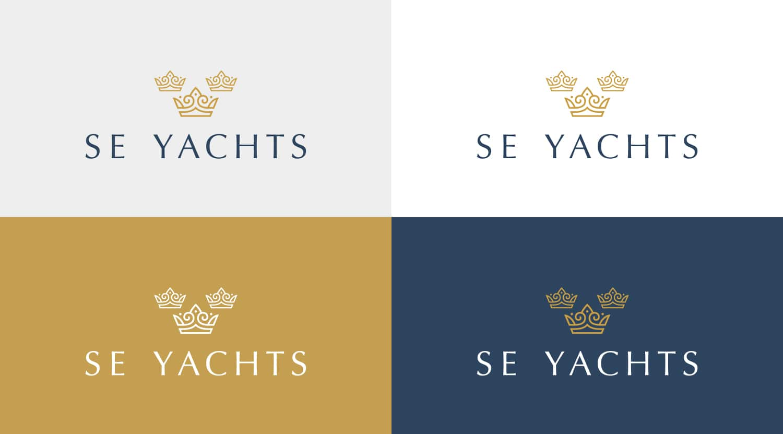 SE Yachts logo brand development