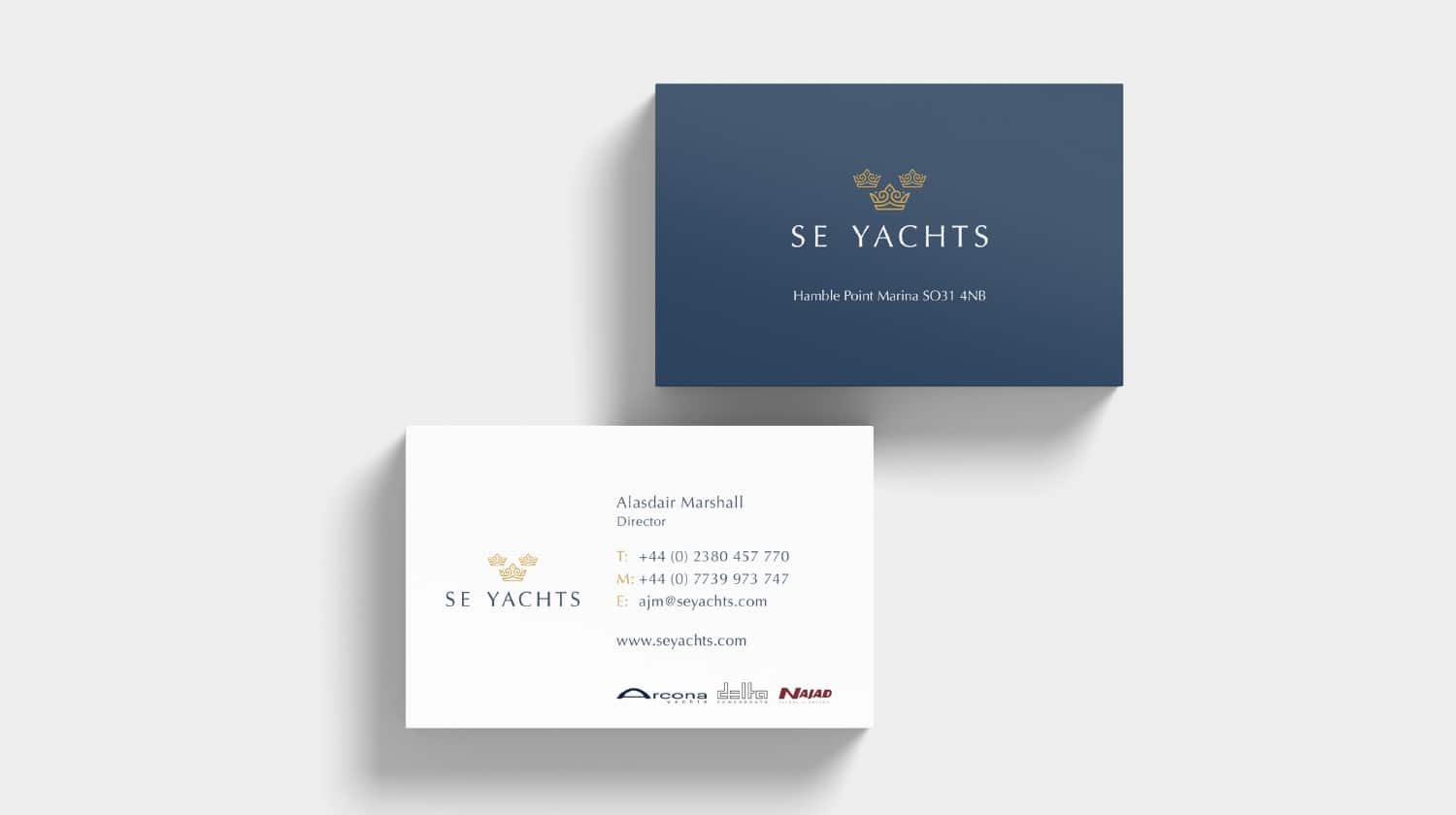 SE Yachts Business Cards Front and Back View