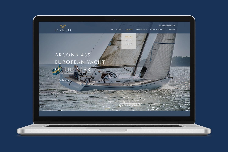 Se Yachts Macbook Homepage View