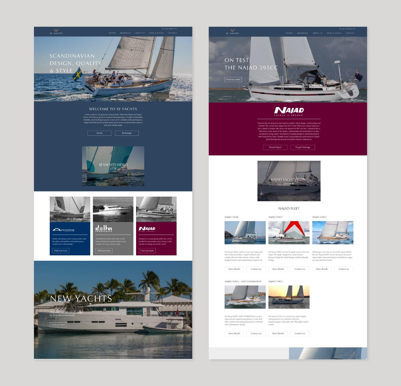 SE Yachts Website View