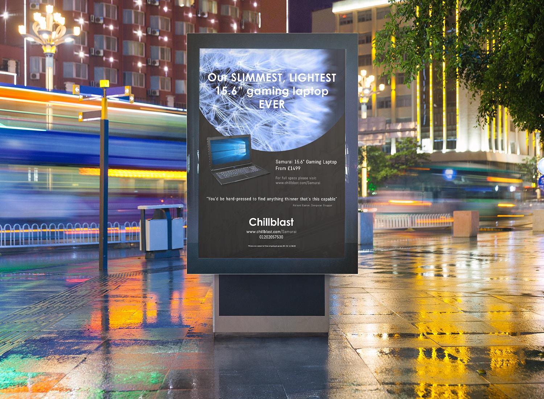 Chillblast Laptop Billboard Poster