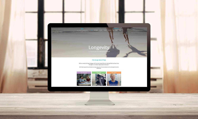 Mortgage Intelligence Website Desktop View