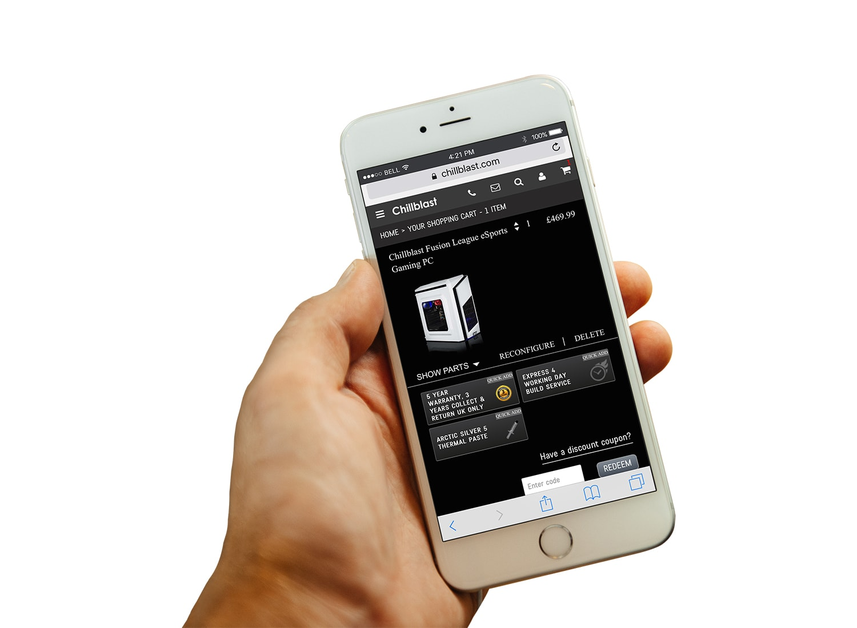 Chillblast Shopping Cart Mobile View