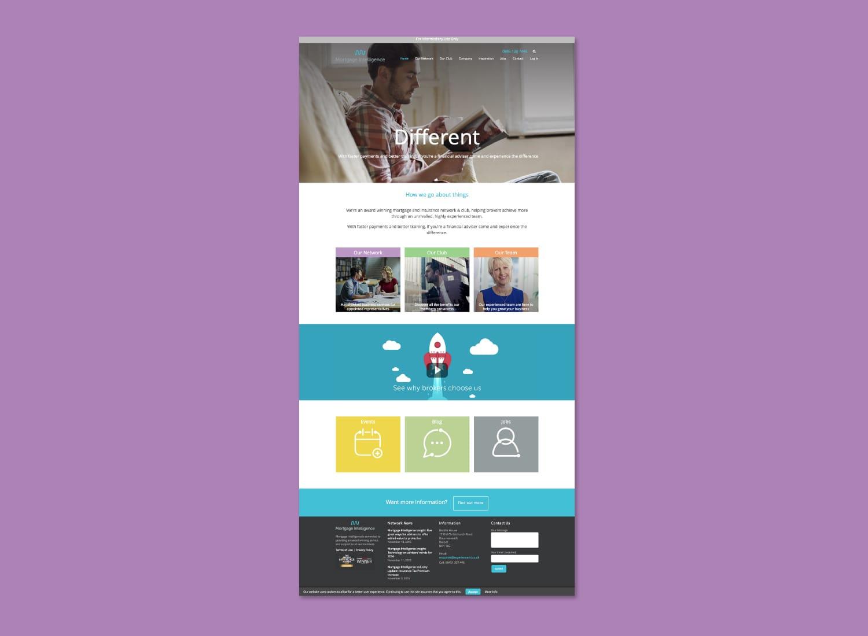 Mortgage Intelligence Web page layout