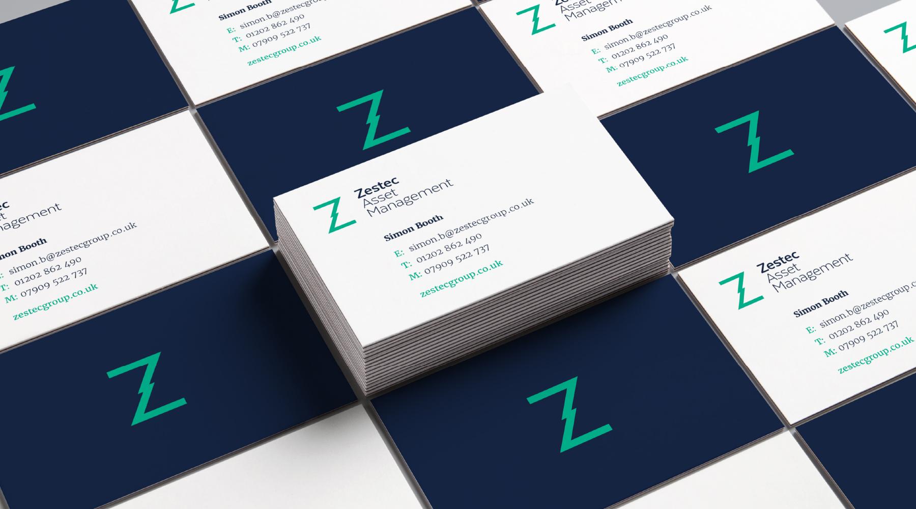 Zestec Business Card Graphic Design