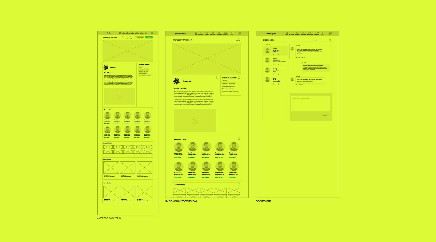Fireworx Yellow Information Architecture Website Wire Frame