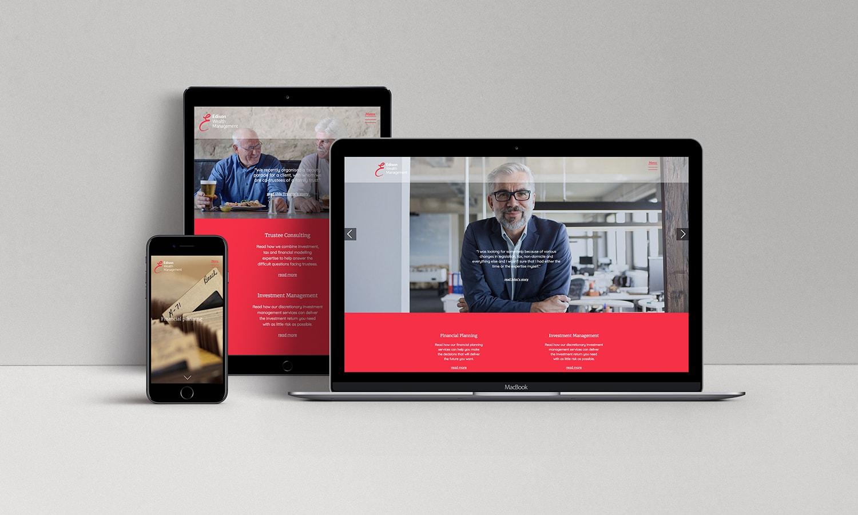 Edison Wealth Management Ipad Desktop and Mobile View
