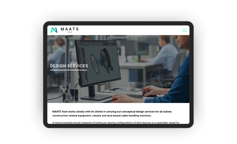 MAATS app view image tablet screen