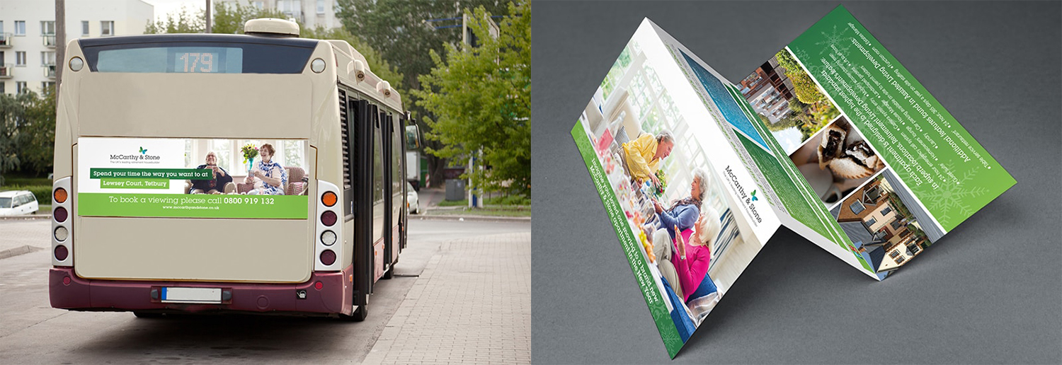 McCarthy & Stone leaflet and bus image