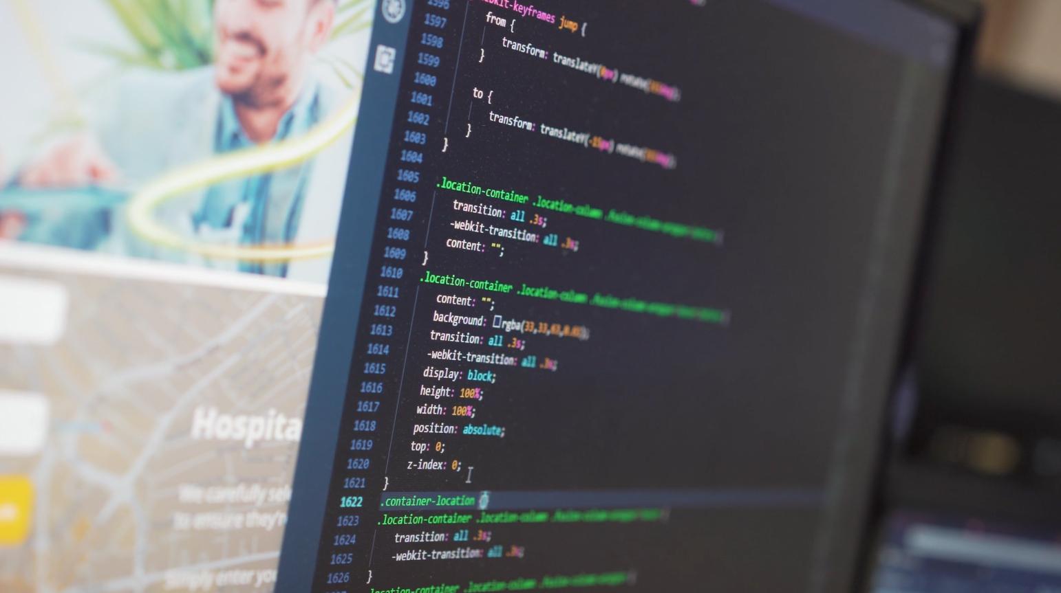 Coding screen code Health-on-Line website