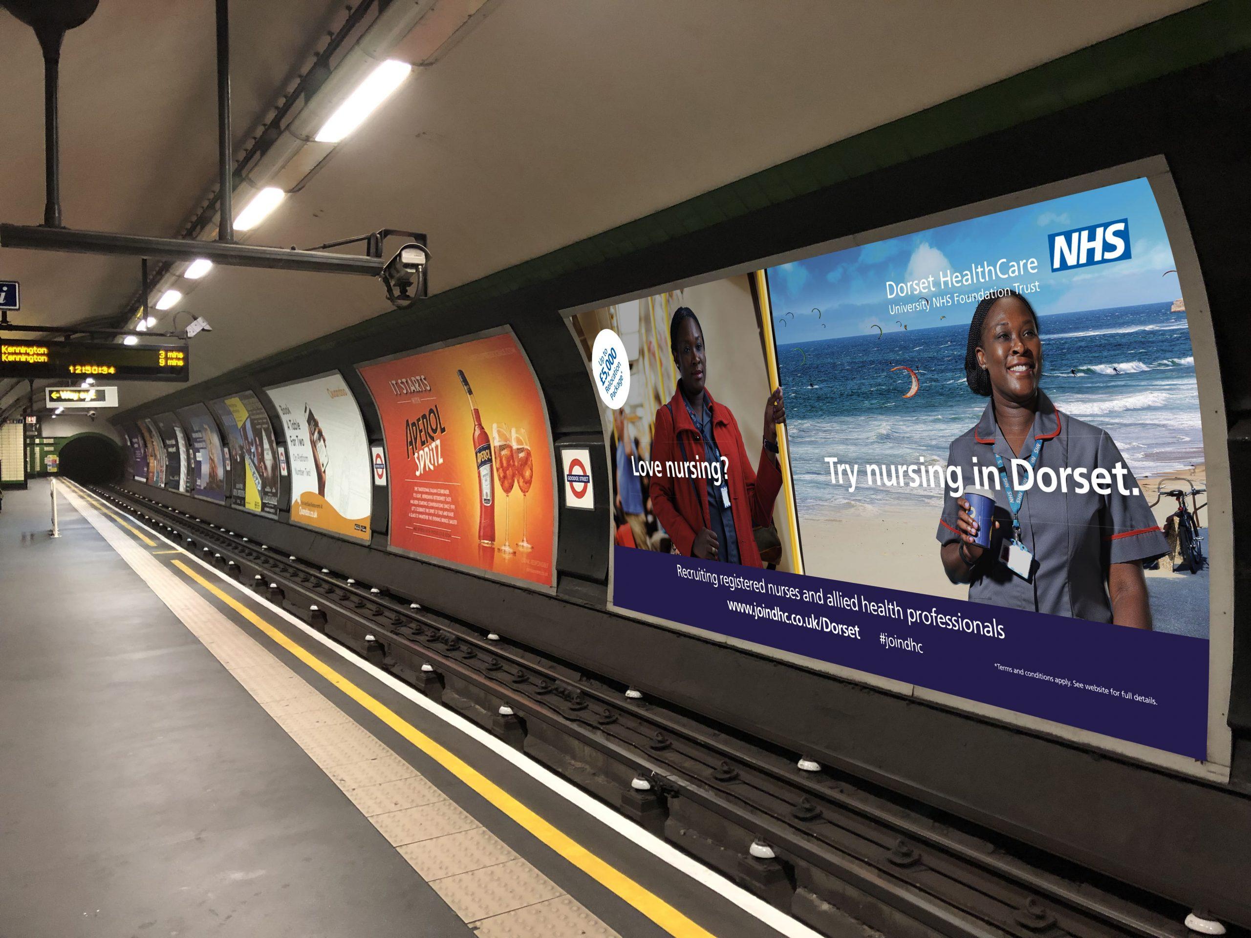 NHS tube station poster images