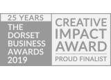 Dorset business award finalist logo black and white