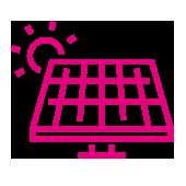 Zestec solar panel icon pink
