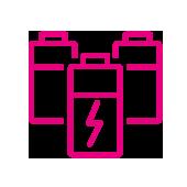 Zestec solar battery icon pink