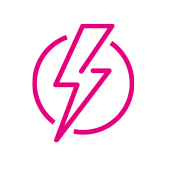 Zestec solar electricity icon pink